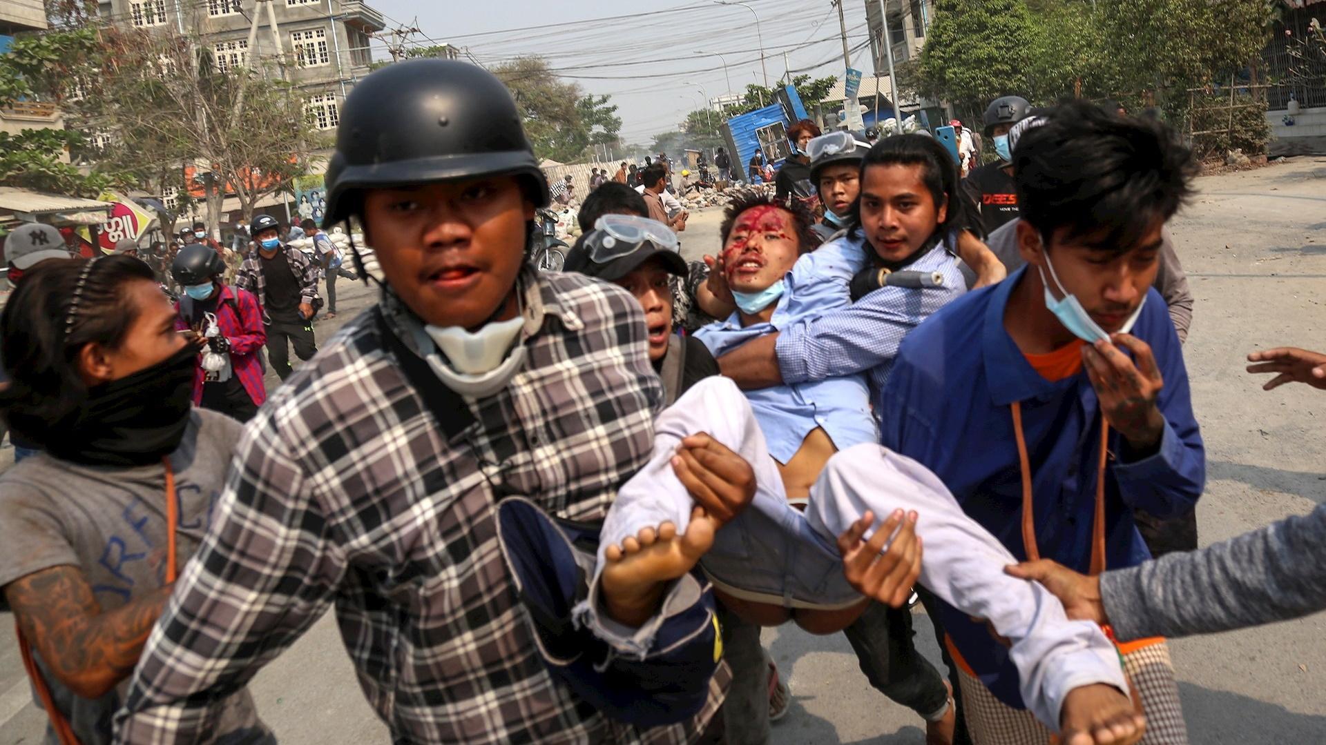 Birmania violencia protestas militares 2