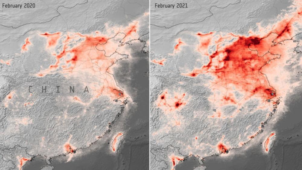 La contaminación atmosférica alcanza en China el nivel precovid - Foto de EFE
