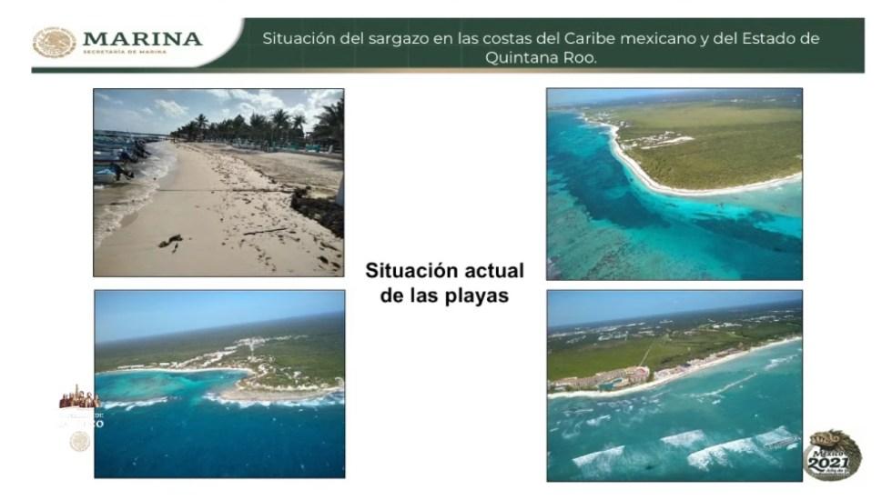 AMLO asegura que no hay sargazo en playas de Quintana Roo - Foto de Semar