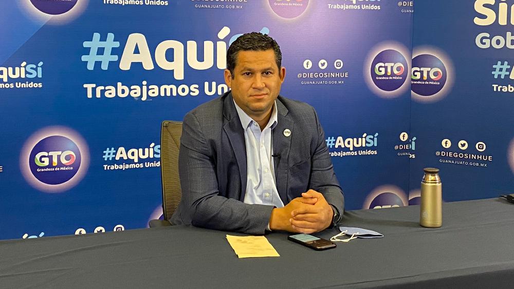 Homicidios bajan 38% en Guanajuato: Diego Sinhué. Refrenda disposición de trabajar con el Gobierno Federal para vacunar a la población - Foto de @Alan_Sahir