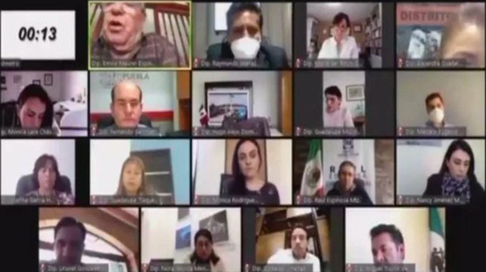 #Video Diputado local de Morena en Puebla llama esquizofrénica a legisladora - Captura de pantalla