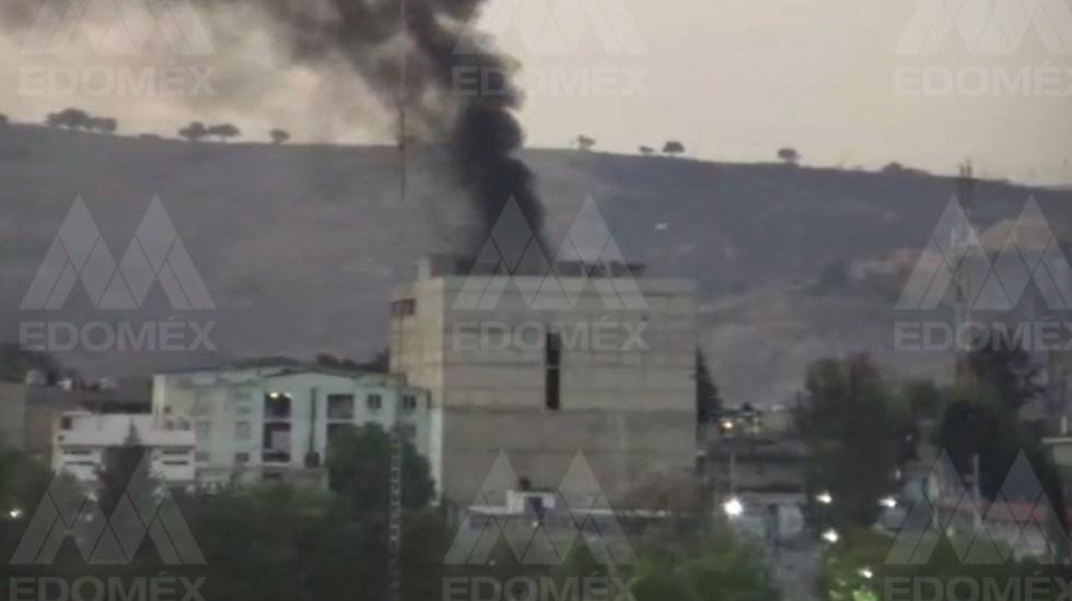 Se incendia bodega de material industrial en Cuatitlán Izcalli - Incendio en edificio en Cuatitlán Izcalli. Foto de C5 Estado de México