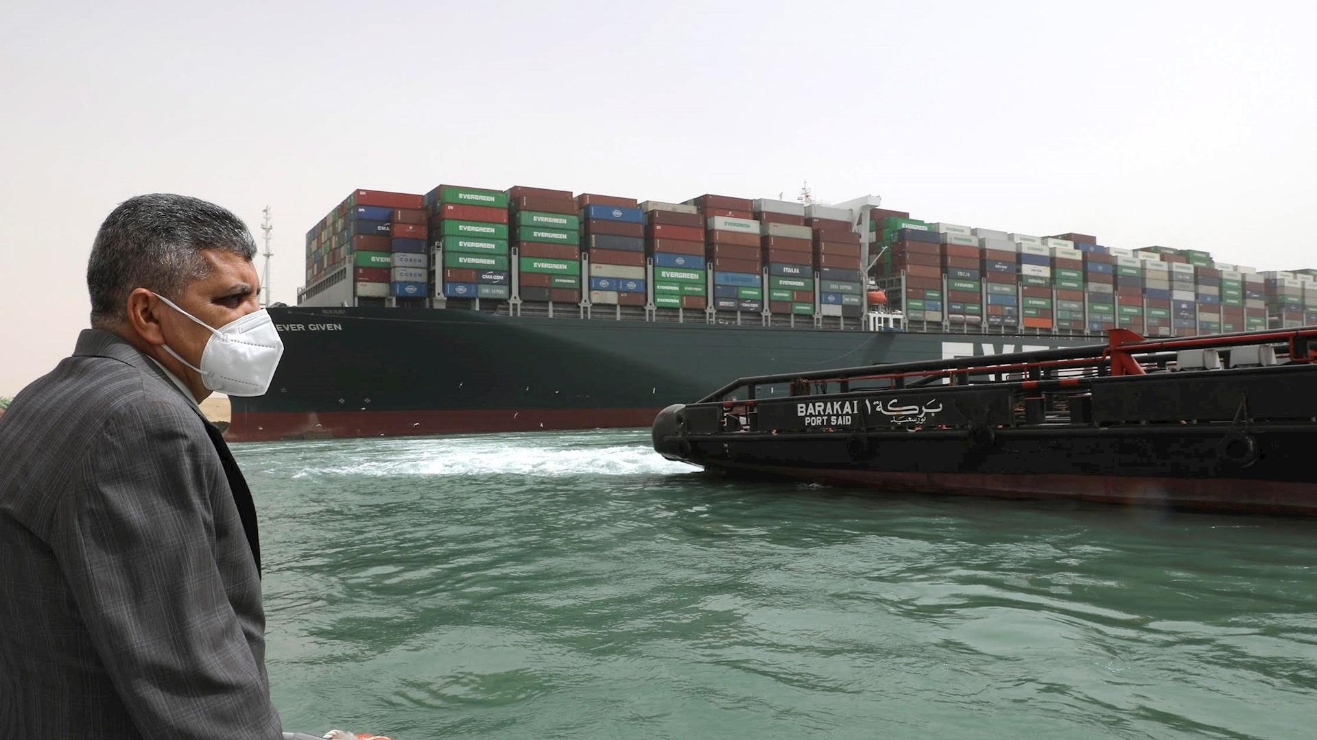 Evergreen Canal de Suez egipto barco encallado