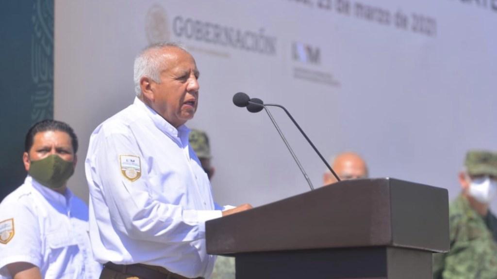 Migrantes buscan nuevas rutas para cruzar la frontera sur de México - El titular del Instituto Nacional de Migración (INM), Francisco Garduño. Foto de INM