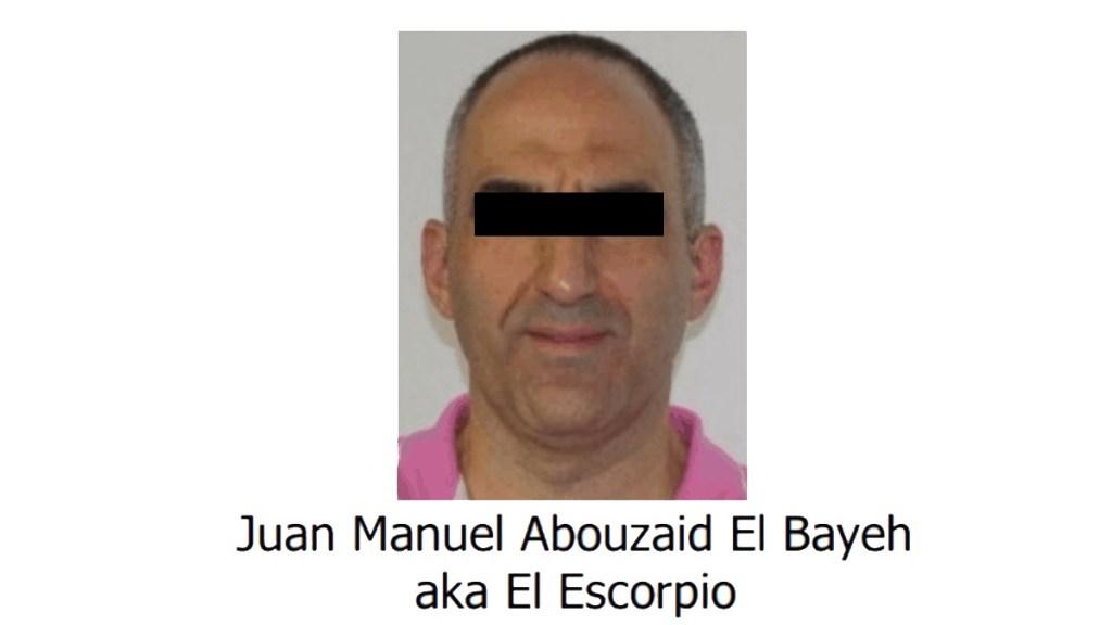 EE.UU. incluye al mexicano Abouzaid El Bayeh en su lista de narcotraficantes - Juan Manuel Abouzaid El Bayeh, alias El Escorpio. Foto Especial