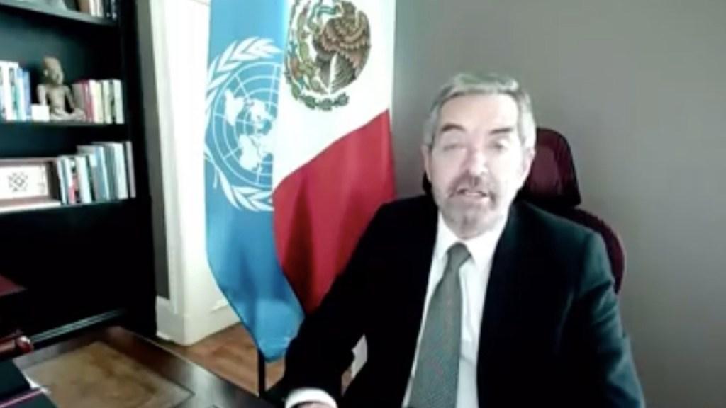 Aplicación de medidas para la no proliferación de armas es una tarea a largo plazo, asegura Juan Ramón de la Fuente - El Embajador de México ante la ONU, Juan Ramón de la Fuente. Foto tomada de video