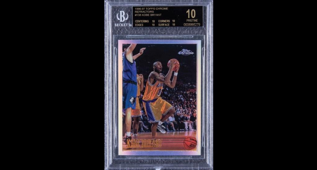Tarjeta de Kobe Bryant alcanza los casi 2 millones de dólares en subasta - Kobe Bryant tarjeta subasta