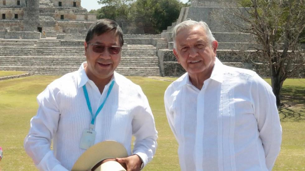 Luis Arce y López Obrador piden a la OEA no intervenir en asuntos internos - Presidentes Luis Arce y Andrés Manuel López Obrador en Campeche. Foto de lopezobrador.org.mx