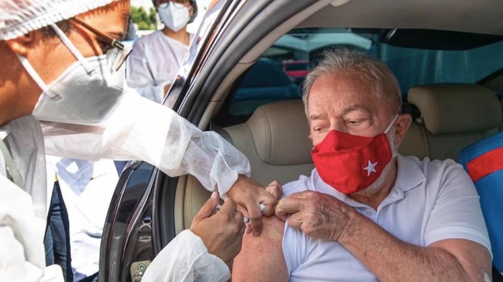 #Video Lula da Silva recibe primera dosis de vacuna contra el COVID-19; pide combatir la ignorancia de Bolsonaro - Foto de Twitter @LulaOficial
