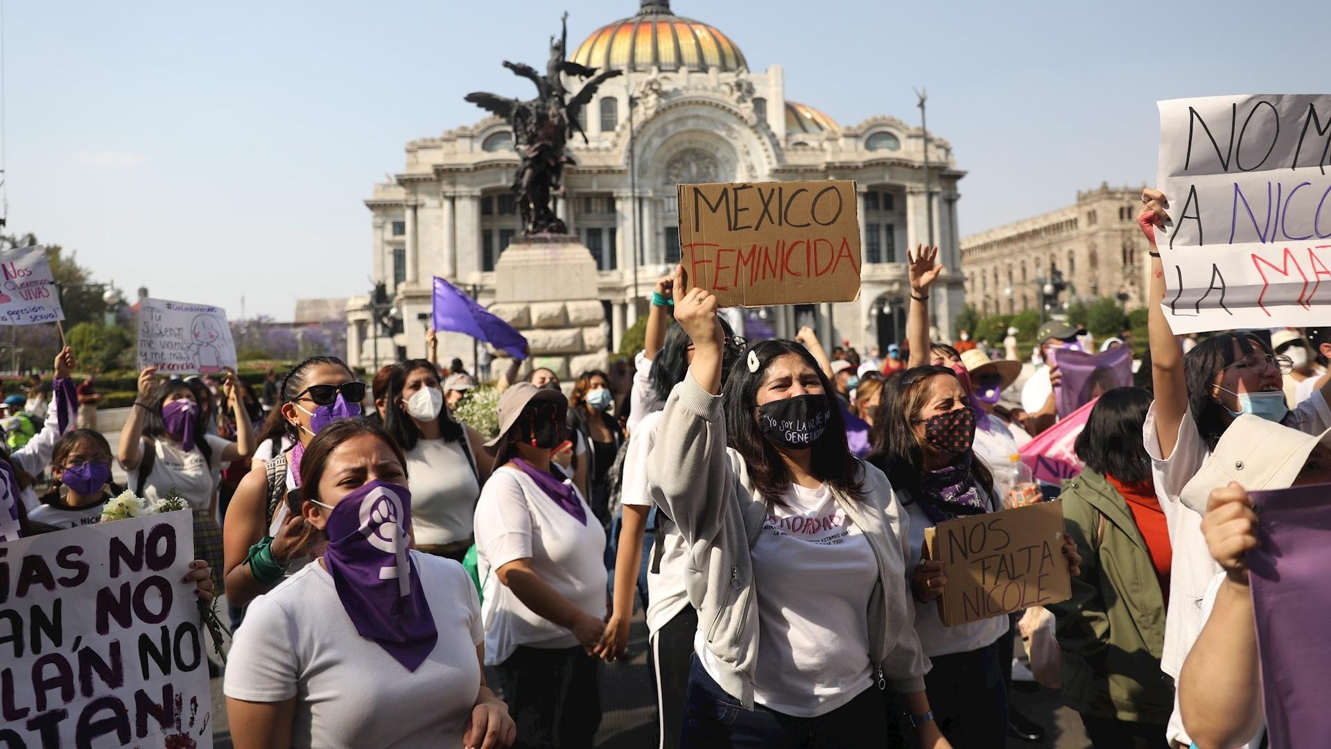 Menor Nicole Hidalgo protesta feminicidios 2