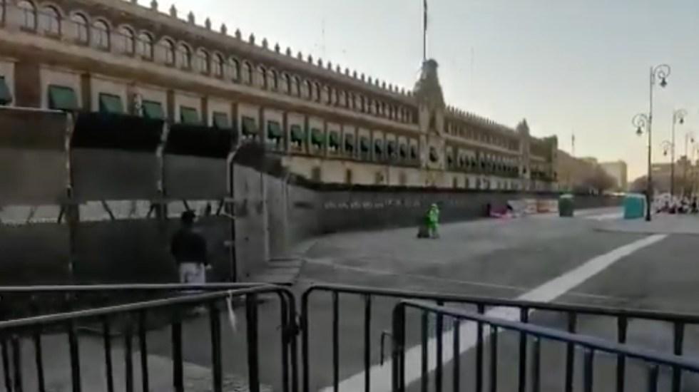 """Vallas instaladas en Palacio Nacional son """"un muro de paz"""", asegura Jesús Ramírez Cuevas - Foto de @AMXNoticias"""
