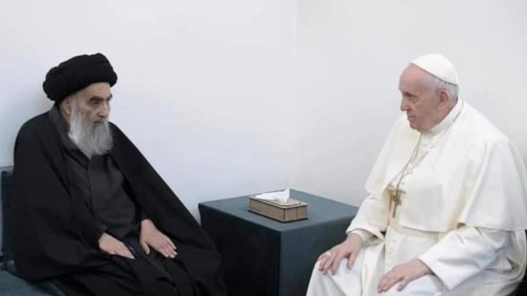 El papa Francisco se reúne con el ayatolá Ali Al Sistani, principal líder religioso chií, en Irak - Foto de Vatican News
