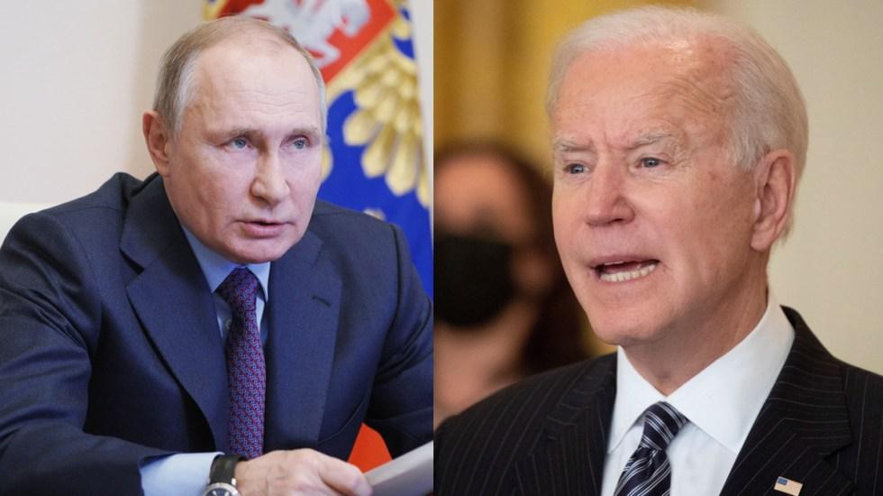 Biden rechaza conversación con Putin tras llamarlo 'asesino' - En la imagen, el presidente de Rusia, Vladimir Putin, y su homólogo estadounidense, Joe Biden. Foto de EFE