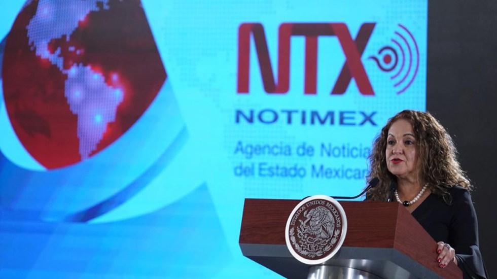 Artículo 19 ha documentado más de 15 agresiones de Sanjuana Martínez contra periodistas desde 2020 - Sanjuana Martínez, directora de Notimex. Foto de Gobierno de México