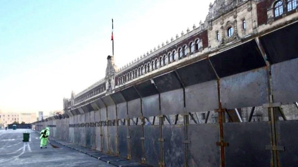 Vallas son para protección de las mujeres, asegura Sánchez Cordero sobre cerco en Palacio Nacional - Foto de @Marisol_Calva
