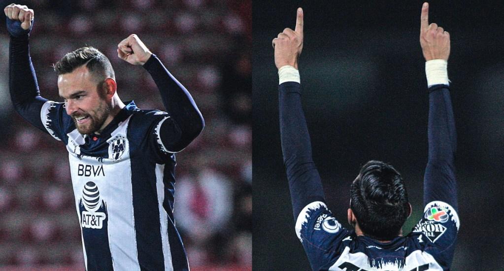 Rayados de Monterrey golea 6-1 a FC Juárez y rompe racha sin victorias - Jugadores de Monterrey festejando goles ante FC Juárez. Foto de @Rayados