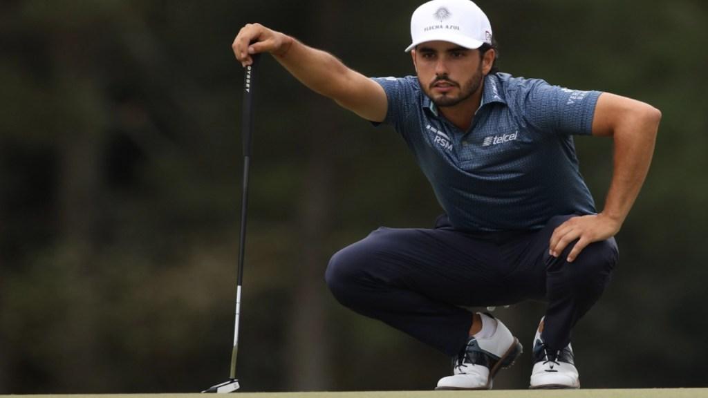 Abraham Ancer se convierte en el mejor golfista latinoamericano en la segunda ronda del Masters de Augusta - El golfista mexicano Abraham Ancer en el Masters de Augusta. Foto de Twitter Abraham Ancer