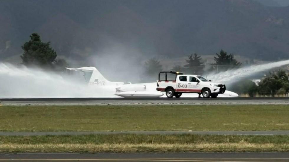 Aeropuerto Internacional de Toluca cierra por aterrizaje de emergencia - Accidente Aeropuerto Internacional de Toluca