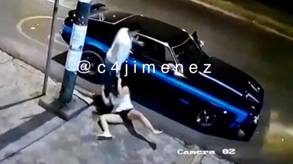 Hombre que golpeó a mujer en Coyoacán dice ser miembro de Guardia Nacional