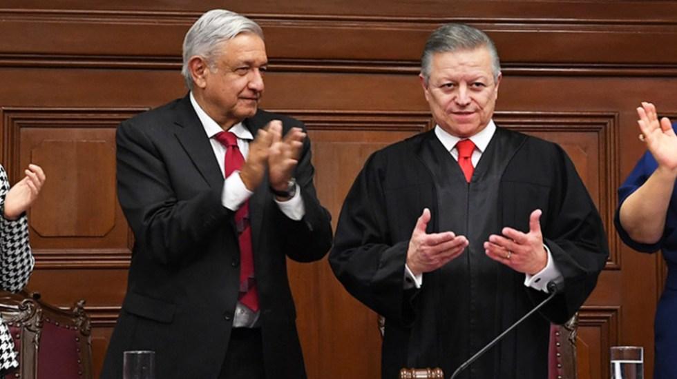 """AMLO ve """"bien"""" consulta de Zaldívar sobre ampliación de mandato en Suprema Corte - AMLO Lopez Obrador Arturo Zaldivar"""