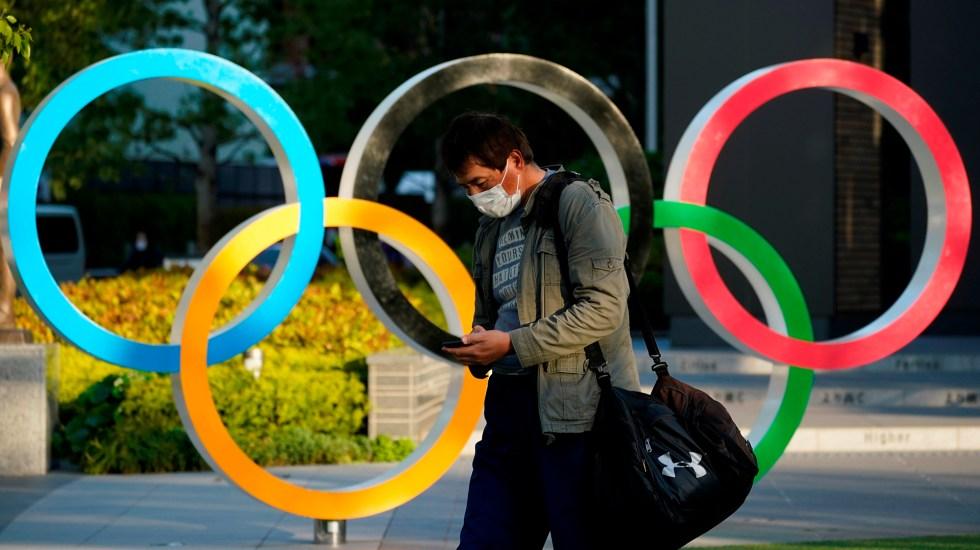 Japón declara tercer estado de emergencia por COVID-19 a tres meses de JJ.OO. - Aros olímpicos en Tokio, Japón. Foto de EFE