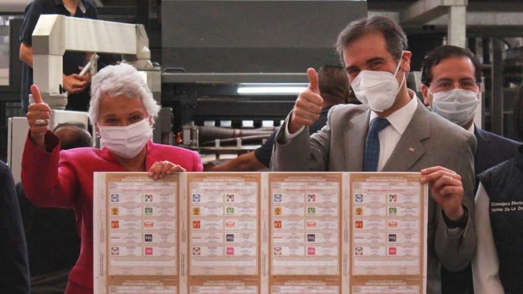 Arranca INE producción de boletas para las elecciones de junio - Arranque de producción de las boletas para las elecciones de 2021. Foto de @M_OlgaSCordero