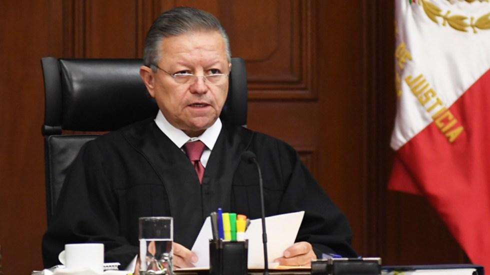"""Ampliación de mandato de Zaldívar es """"oportunidad histórica"""" para Poder Judicial: AMLO - Arturo Zaldívar"""