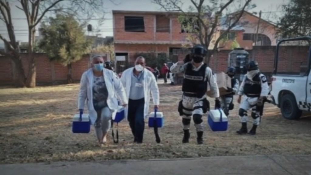 Detienen a un presunto involucrado en ataque a brigada de vacunación en Michoacán - Ataque a brigada de vacunación contra el COVID-19. Foto tomada de video