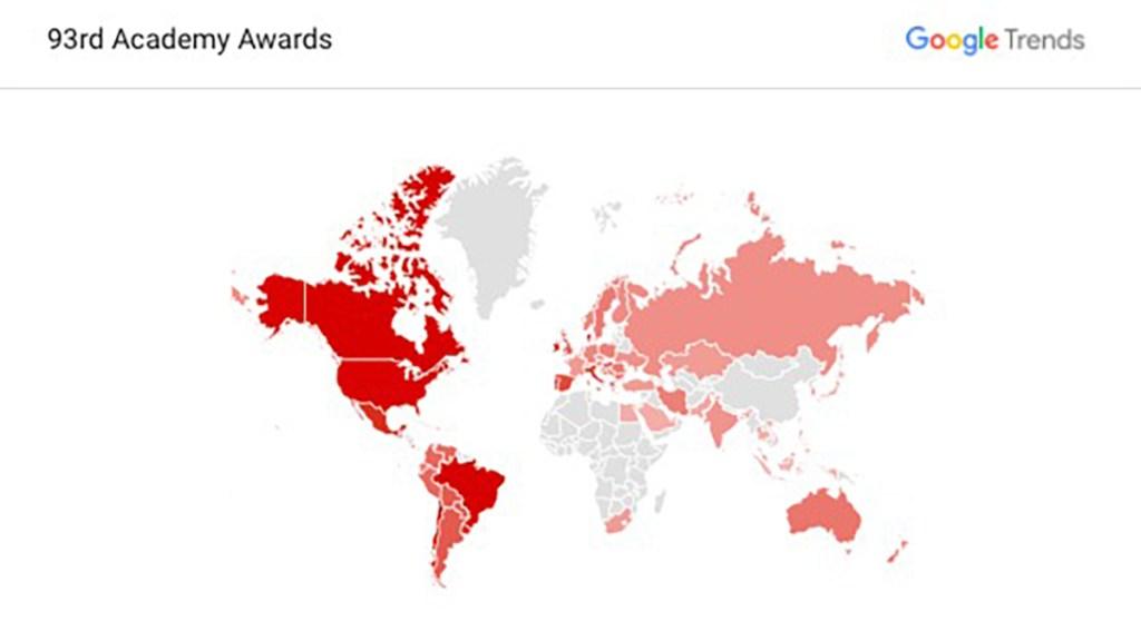 ¿Qué buscan los mexicanos sobre los Oscars en Google? - Búsquedas en Google, a nivel mundial, sobre los premios Óscar