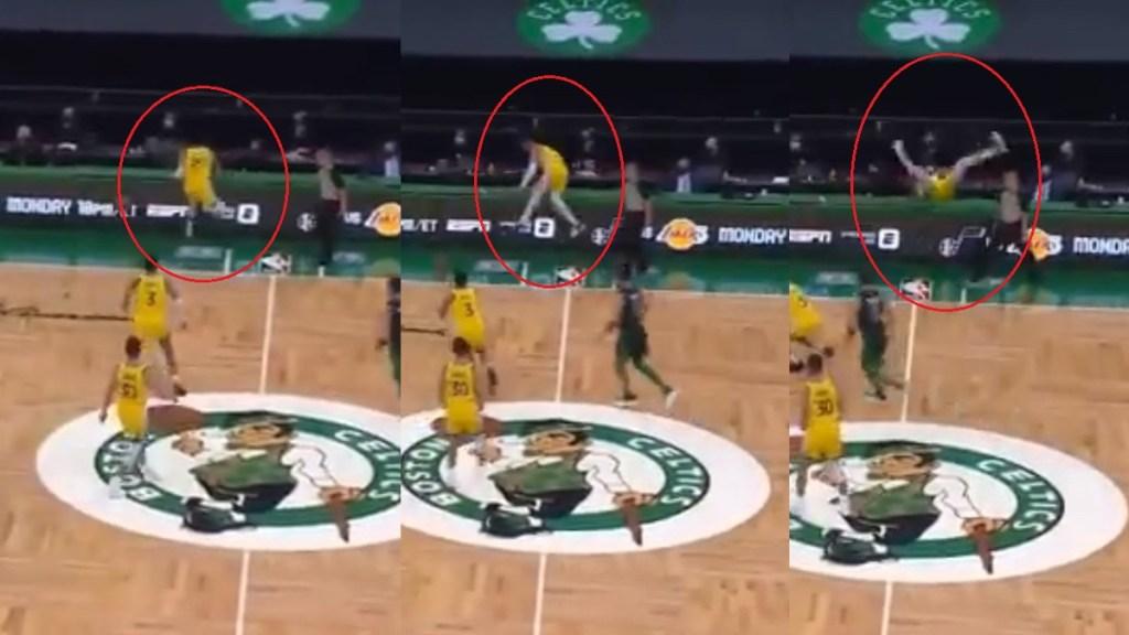 #Video El mexicano Juan Toscano sufre conmoción cerebral en partido de NBA - Caída de Juan Toscano en partido de la NBA que le causó conmoción cerebral. Captura de pantalla