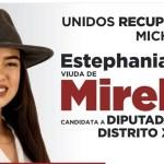 """Critican a candidata de Morena por promocionarse como """"viuda de Mireles"""""""