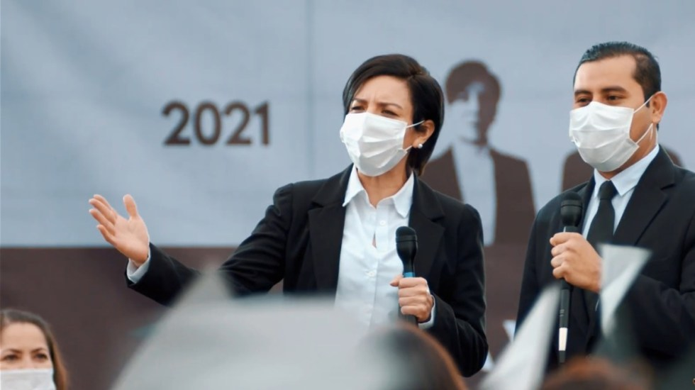 Partidos políticos adoptan el escándalo en arranque de campañas - Ejemplo de mitin por campaña política en México. Foto de INE