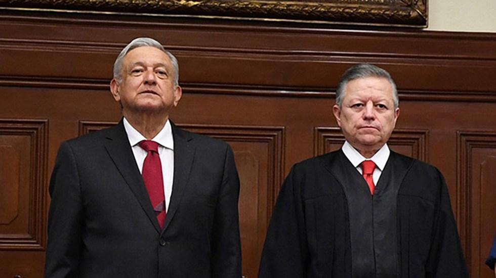 La Justicia se enturbia en México con la extensión del mandato de Arturo Zaldívar - El presidente López Obrador junto al ministro Arturo Zaldívar
