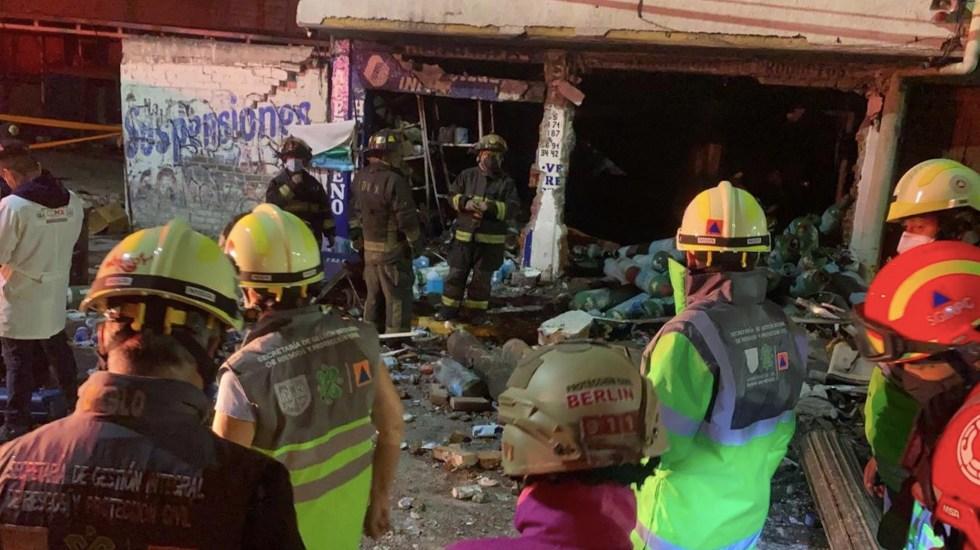 Explosión de local de oxígeno medicinal deja un muerto en Iztapalapa - Explosión en local de venta de oxígeno medicinal. Foto de SGIRPC