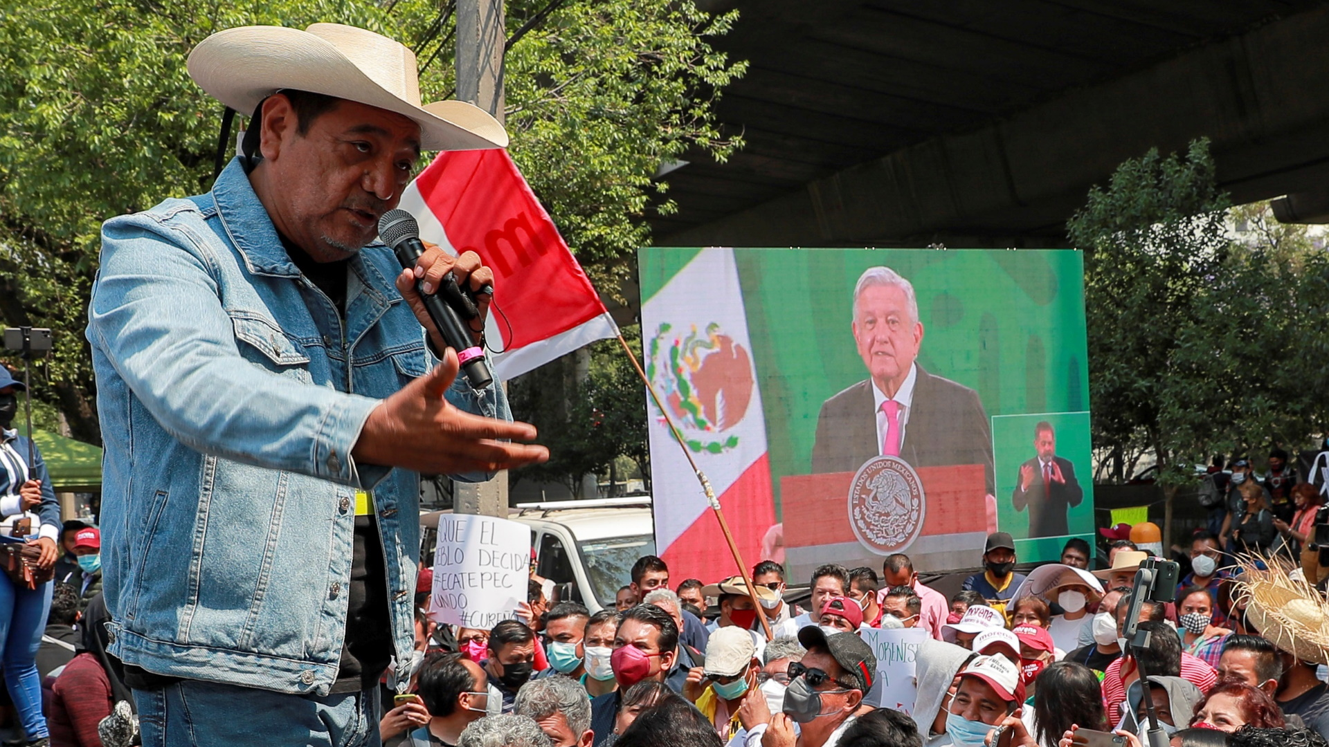 Félix Salgado Macedonio INE protesta Ciudad de México 13042021