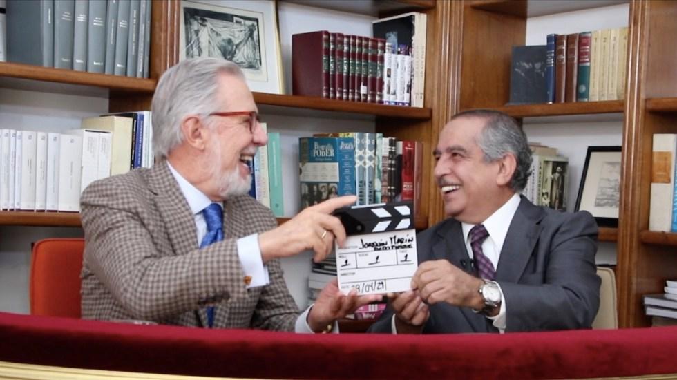 Joaquín, Marín de do pingüe se impone como 'Silver Creator' en YouTube - Joaquín López-Dóriga y Carlos Marín. Foto tomada de video