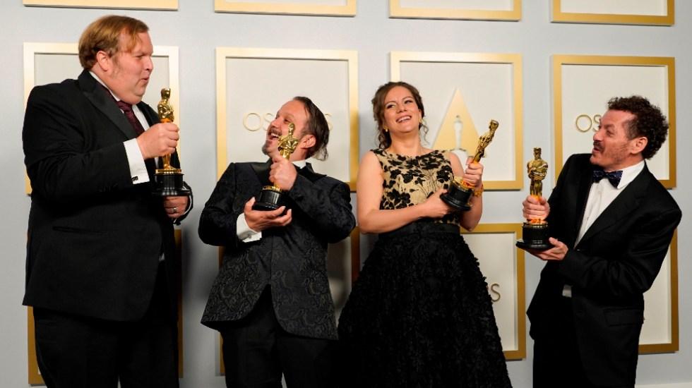 Felicita AMLO a tres mexicanos por ganar Óscar a Mejor Sonido - mexicanos Oscar Sound of Metal