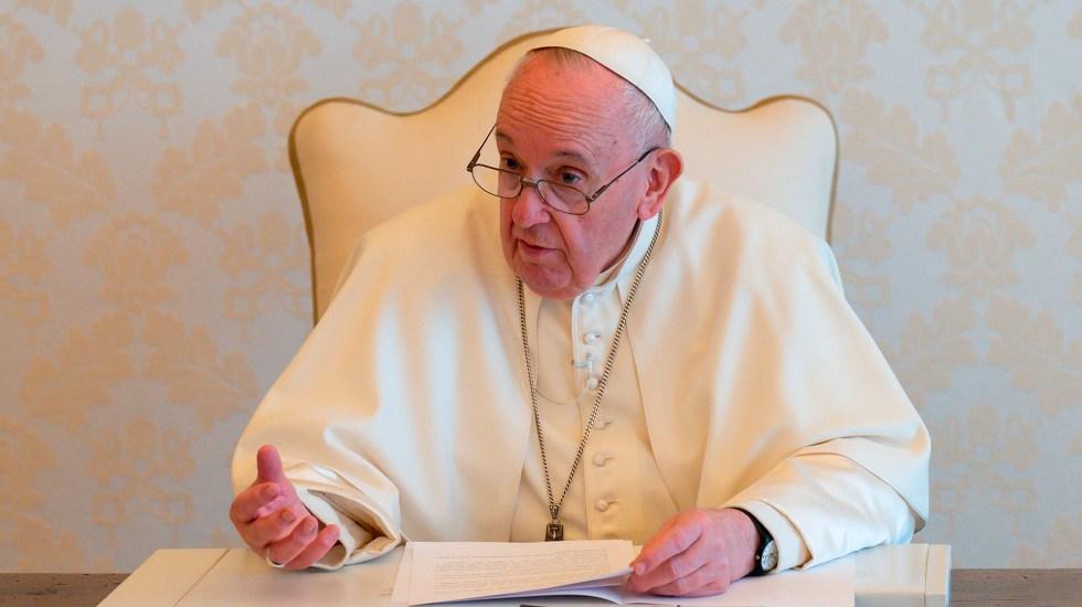 """Papa Francisco urge a líderes a proteger el planeta; """"estamos en el límite"""", advierte - Papa Francisco durante mensaje con motivo del Día de la Tierra 2021. Foto de EFE"""