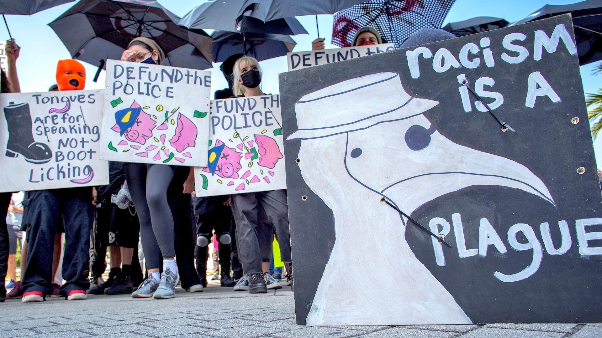 Protesta Miami violencia policial 180420211