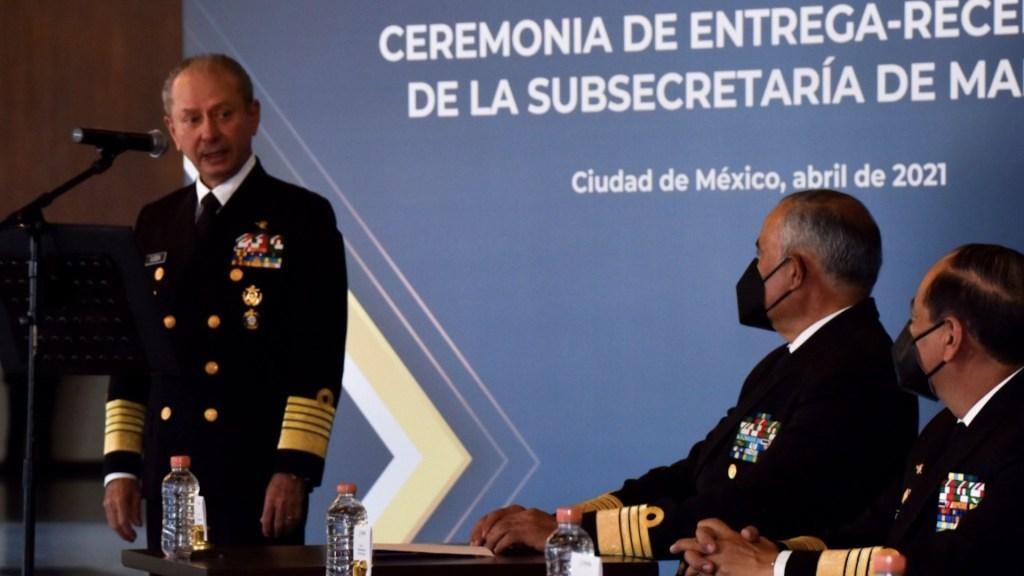 El almirante Rafael Ojeda Durán reaparece tras segundo contagio de COVID-19 - El secretario de Marina, Rafael Ojeda Durán. Foto de Twitter @SEMAR_mx