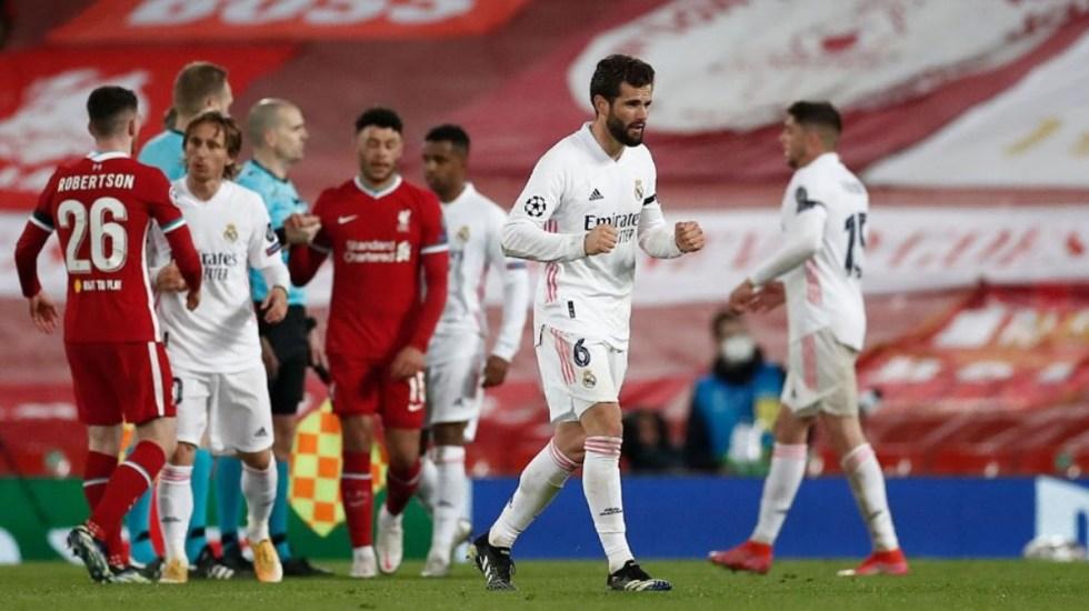 Real Madrid empata a cero en Anfield y pasa a semifinal de la Champions - Real Madrid Liverpool