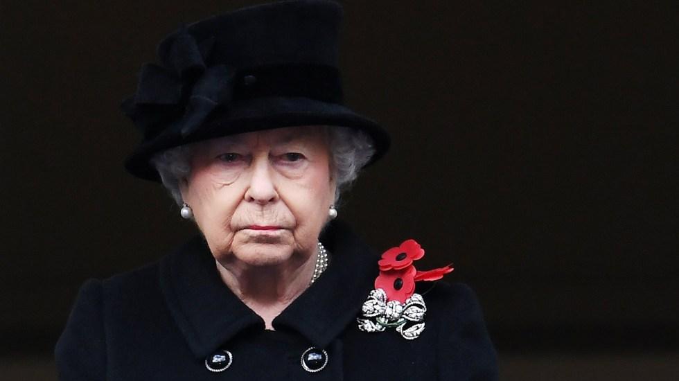 Reina Isabel II cumple 95 años sin el duque de Edimburgo y con una crisis familiar - Reina Isabel II durante funeral del príncipe Felipe. Foto de EFE