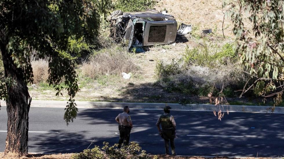 Tiger Woods creía que estaba en otro estado cuando se accidentó en California, revela informe - Tiger Woods Accidente California choque camioneta