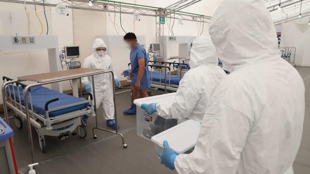 Aíslan en Hidalgo a 46 personas por contacto con posible caso de variante británica de COVID-19 - Unidad de atención COVID-19 en Hidalgo. Foto de @saludhgo