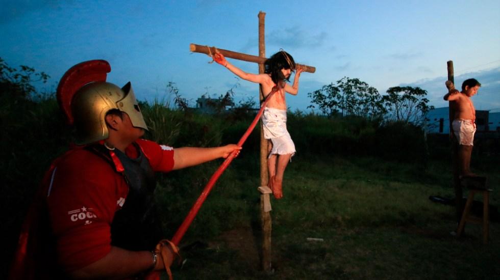 Un viacrucis infantil por el fin de pandemia y feminicidios en México - viacrucis infantil Tabasco Cardenas