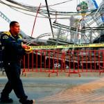 Usuarios del Metro sí tienen un seguro, destacan autoridades - Acordonamiento de la zona donde cayeron dos vagones de la Línea 12 del Metro. Foto de EFE