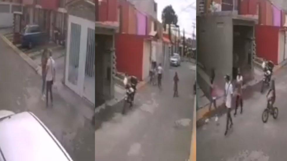 #Video Sujeto agrede a mujer en calles de Ecatepec - Agresión hombre mujer Ecatepec