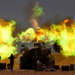 Israel y Gaza, al borde de una cuarta guerra - Artillería israelí. Foto de EFE
