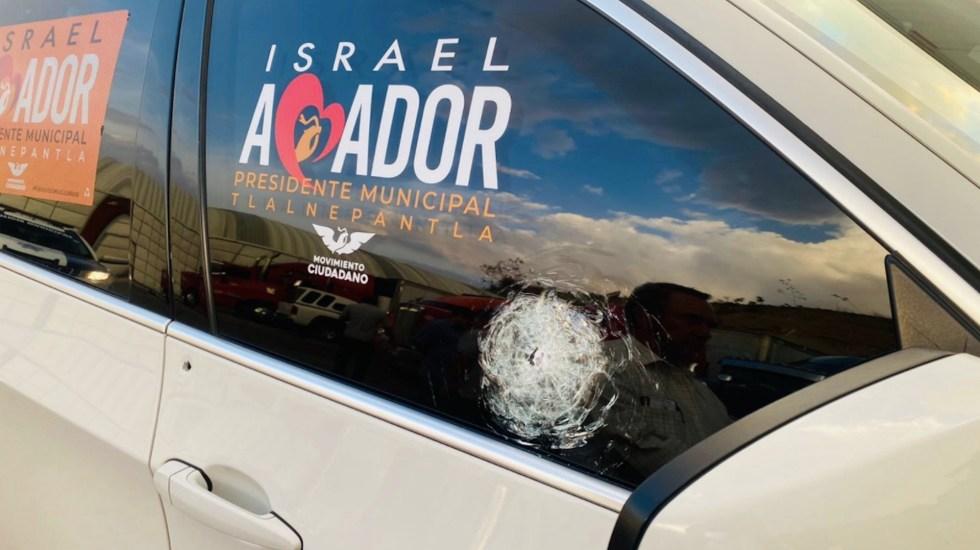 Israel Amador, candidato a alcaldía de Tlalnepantla por MC, sufre atentado - Ataque contra Israel Amador, candidato a la alcaldía de Tlalnepantla. Foto de @vialhermes