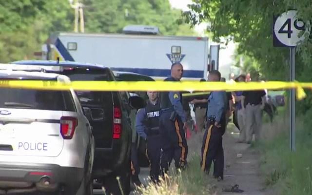 Fiesta de cumpleaños en Nueva Jersey termina en tiroteo; hay dos muertos - Calle acordonada en Nueva Jersey por tiroteo. Foto de NBC Philadelphia